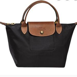 Longchamp Le Pilate Small Shoulder Tote Bag Black